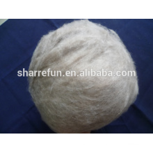 Pure dehaired goat cashmere fiber brown 16.5mic 26-38mm