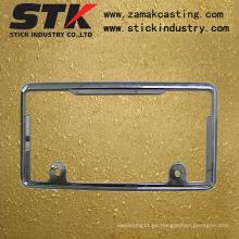 Marco de matrícula (aleación de zinc, aleación de aluminio, ISO, SGS)
