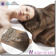 No tangle human hair clip in hair extensions
