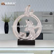 Europäische Mode-Stil Interieur dekorative Statuen Glück Fisch Fisch Ornament neue Design Haus Dekoration