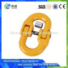 Doble conector de cadena de ancla giratoria