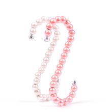 high quality beautiful decorative plastic pearl S shape hook