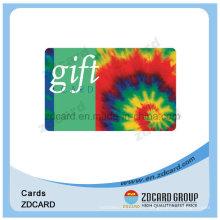 Carte à puce rayée magnétique argentée Hico pour carte-cadeau