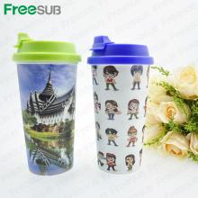 FreeSub Plastikdoppelwand-Reise-Schalen-Becher