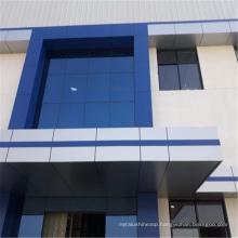 PVDF Silver Aluminium Composite Panel Exterior Designs