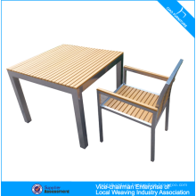 Modern outdoor furniture wholesale garden plastic wood table and chair