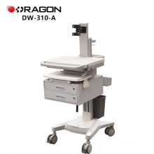 DW-310-A hospital computer laptop movable trolley with drawer