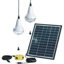 Bolas de luz colgante solar barato con 3 Bombillas de LED y cargador móvil
