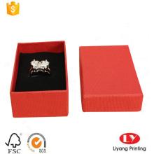 Benutzerdefinierte Ring Schmuckpapier Verpackung Geschenkbox