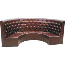 Sofa de tapisserie d'ameublement de demi-cercle de restaurant (FOH-CBCK65)