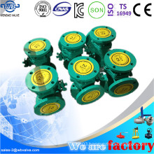 L Type Three Way Ball Valve with Flanged Ends
