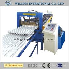 Machine de formage de rouleaux refroidis pour panneaux muraux de toiture en métal