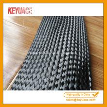 Gaines de câbles tressées en fibre de carbone