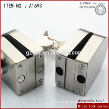 2014 newest Glass door cylinder stainless steel lever lock