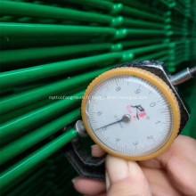 Clôture de treillis métallique soudée verte de 4,5MM