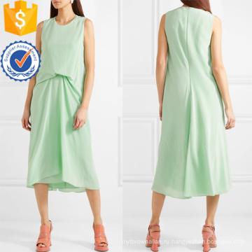 Самая последняя Конструкция 2019 рукавов зеленый MIDI летнее платье Производство Оптовая продажа женской одежды (TA0302D)