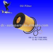 Elemento de filtro de óleo do cartucho 11 42 7 508 969 para BMW