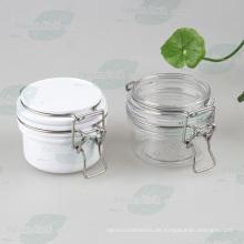Weißes luftdichtes Haustier Kilner Glas mit Edelstahl (PPC-33)