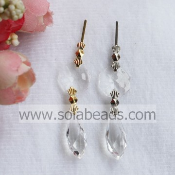 Clear Crystals Chandelier Lamp Prisms Parts 24MM