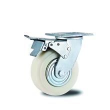 Heavy Duty Brake Caster White PP & Cover
