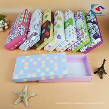 boîte d'emballage de sous-vêtements de papier carton rigide de conception personnalisée de luxe