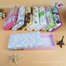 luxury custom design rigid cardboard paper underwear packaging box