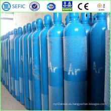 Cilindro de argón de acero sin costura de alta presión 40L (ISO9809-3)