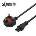 SIPU haute qualité ce certifié uk 3 câble d'alimentation de base meilleur prix 3 * 0.75mm2 cordon d'alimentation de l'ordinateur