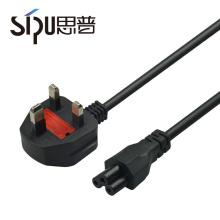 SIPU haute qualité standard cuivre étanche uk ca cordon d'alimentation 3 broches plug