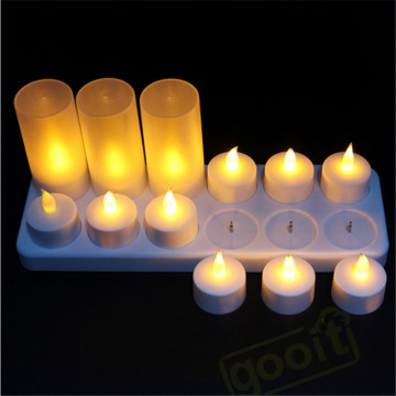 Vente en gros Rechargeable Flickering LED sans flamme