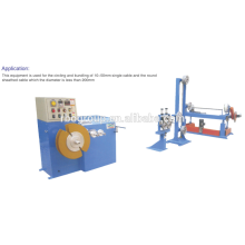 Middle section cable automatic circling machine