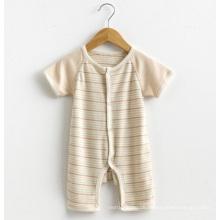 Organisches Baumwollbaby-Spielanzug-Säuglingskleid