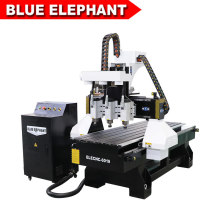 China 3 Spindle Woodworking CNC Router with Dust Collection From CNC Router Factory