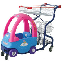 Good quality Steel and Plastic Shopping Cart Toy Car