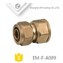 EM-F-A089 Tipo de manguito de compresión de latón recto tipo tubo de compresión