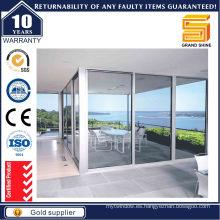Puerta corredera de aluminio de aluminio con doble acristalamiento