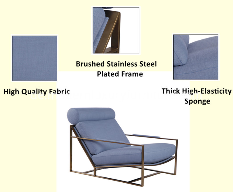 milo stainless steel lounge chair