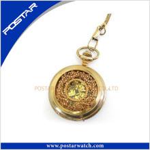 Personalizado de alta qualidade em aço inoxidável relógio de bolso Automatic Gold Watch