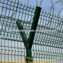 Tipo de Y post alambre de acero de bajo carbono galvanizado cerca del aeropuerto