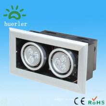 Mercado de china decoración interior superlight empotrado llevó parrilla proyector 6w