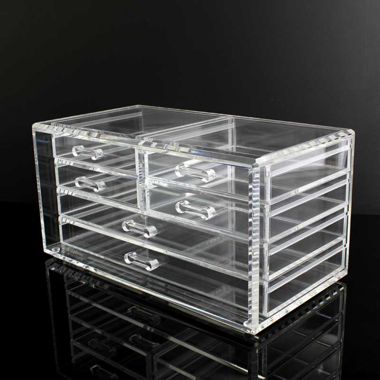 A-4OR0004 6 Drawer Clear Acrylic Cosmetic Organiser