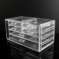 Organisateur cosmétique en acrylique transparent à 6 tiroirs