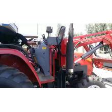Trattori agricoli 50hp 4wd trattori agricoli tratores retroescavadeiras rebocáveis com pomar com carregador frontal