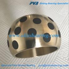 SAE430B Öl Kupferlegierung Graphit Intarsien Lager, hochwertige Messing Kugel Stahl Buchse, AB-2 Sphercial Plain Bronze Lager