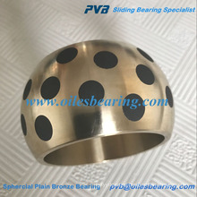 SAE430B oil copper alloy graphite inlaid bearing,high quality brass spherical steel bush,AB-2 sphercial plain bronze bearing