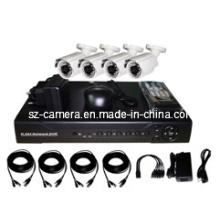 "4CH DVR Kits + 600tvl 1/3 ""Sharp 960h CCD al aire libre Cámaras"
