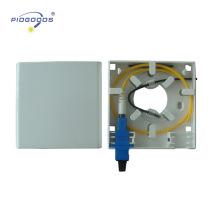2 portas FTTH terminal mini caixa de saída óptica caixa de montagem na parede SC portas ópticas ABS material