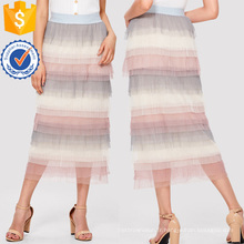 Jupe plissée en maille à plusieurs niveaux Fabrication en gros de vêtements pour femmes (TA3098S)