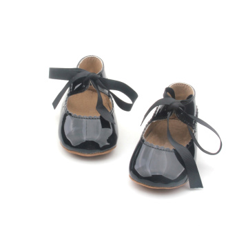 Black Ribbon Mary Jane Baby Shoes Girls Shoes