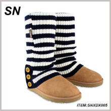New Striped Knitted Buttons Leg Warmers (SNXDX005)
